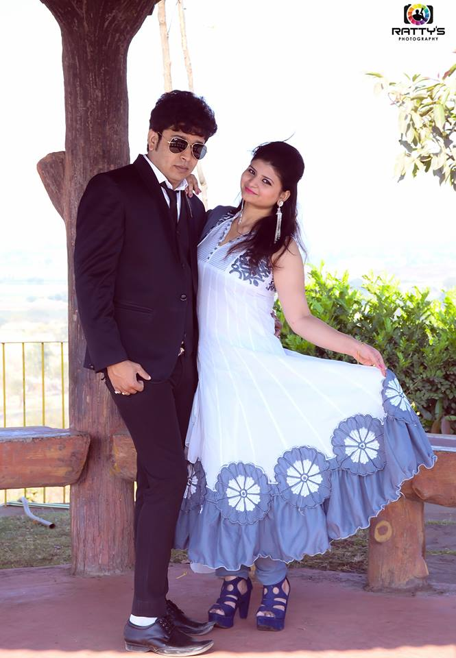 Abhishek Dubey With Nikita Dubey